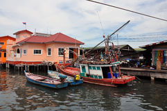 Village de pêche. Photo stock