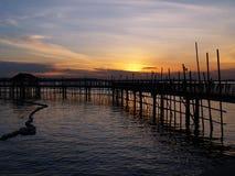 Village de pêche de bord de mer photographie stock libre de droits