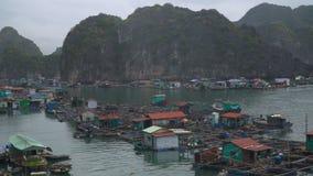 Village de pêche de flottement banque de vidéos