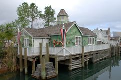 Village de pêche de la Nouvelle Angleterre image stock