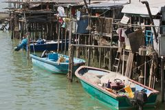 Village de pêche de Lantau Image stock