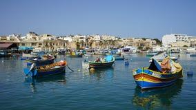Village de pêche de Marsaxlokk Photos libres de droits