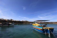 Village de pêche de Marsaxlokk, Malte Photos stock