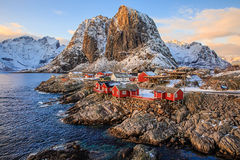 Village de pêche de Reine Photo stock