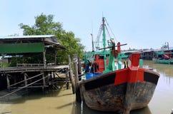 Village de pêche de Sekinchan Photo libre de droits