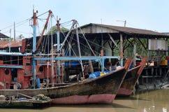 Village de pêche de Sekinchan Photographie stock