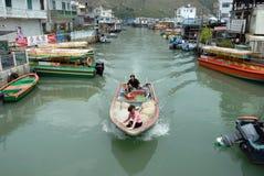 Village de pêche de Tai O, Chine Images stock