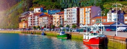 Village de pêche des Asturies, Espagne image stock