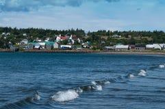 Village de pêche et les marées Photo stock