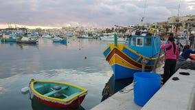 Village de pêche Malte Photos libres de droits