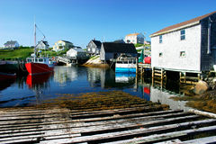 Village de pêche pittoresque Photographie stock