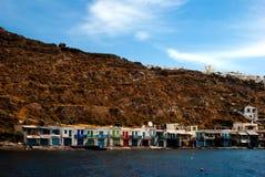 Village de pêche traditionnel sur l'île de Milos images libres de droits