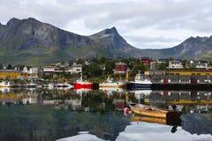 Village de pêcheur Images stock