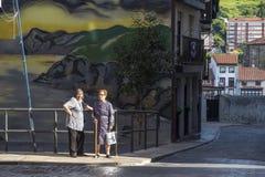 Village de pêcheur de Bermeo dans la côte du pays Basque Europ Photographie stock libre de droits