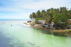 Village de pêcheur de Philippines Image stock