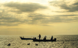 Village de pêcheur de Tarcoles - Costa Rica images stock