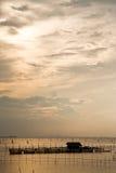 Village de pêcheur en île de Yor. images libres de droits