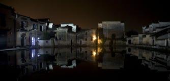 village de partie de nuit Images libres de droits