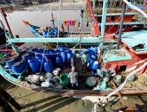 Village de pêche de Sekinchan Photographie stock libre de droits