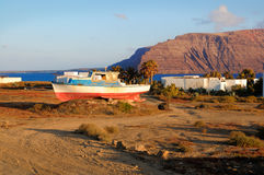 Village de Pedro Barba sur l'île de Graciosa Photographie stock libre de droits
