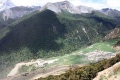 Village de plateau Image libre de droits