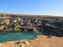 Village de Popeye à Malte images libres de droits