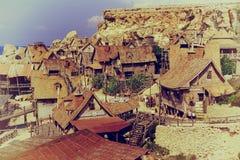 Village de Popeye, Malte Photo stock