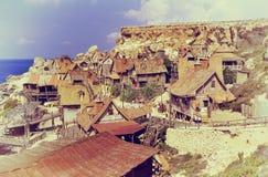 Village de Popeye, Malte Photo libre de droits