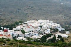 Village de Pyrgos, Tinos Images stock