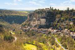 Village de Rocamadour, France Images libres de droits