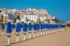 Village de RODI GARGANICO en Puglia Photos stock