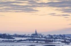 village de Roumain de campagne photo stock