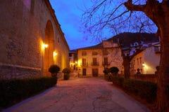 Village de Rubielos de Mora à Teruel Espagne photographie stock libre de droits