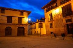 Village de Rubielos de Mora à Teruel Espagne photo libre de droits