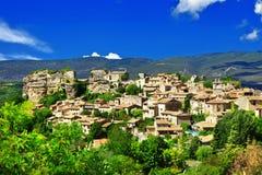 Village de Saignon, Provence, France Photos stock