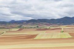 Village de San Andres del Valle dans La Rioja, Espagne Photographie stock libre de droits