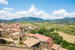 Village de San Vicente de la sonsierra, Espagne Photo stock