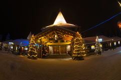 Village de Santa Claus ' en Finlande images stock