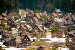 Village de Shirakawa Images libres de droits