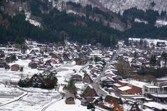 Village de Shirakawago, un de sites d'héritage de Word de l'UNESCO photo stock