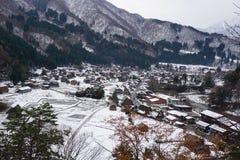 Village de Shirakawago, un de sites d'héritage de Word de l'UNESCO photo libre de droits