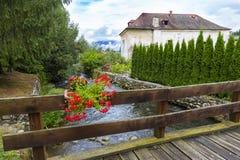 Village de station thermale de Liptovsky janv. slovakia photographie stock libre de droits