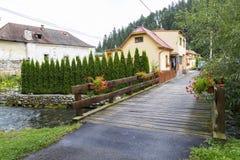 Village de station thermale de Liptovsky janv. slovakia photos libres de droits