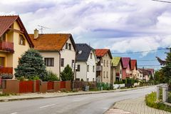 Village de station thermale de Liptovsky janv. slovakia photos stock