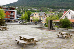 Village de Stryn en Norvège Photographie stock