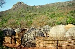 Village de Swazi, Souaziland Image libre de droits