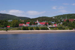 Village de Tadoussac Photographie stock