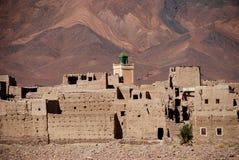 Village de Tassaouant, près d'Agdz. Souss-Massa-Draâ, Maroc photographie stock libre de droits