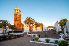 Village de Teguise sur l'île de Lanzarote photos libres de droits