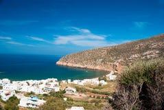 Village de Tradisinal sur l'île de Naxos images libres de droits